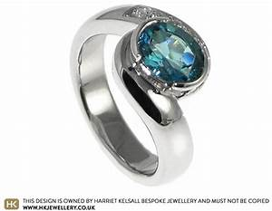 zoe and daniel wanted an ocean inspired engagement ring With ocean wedding rings