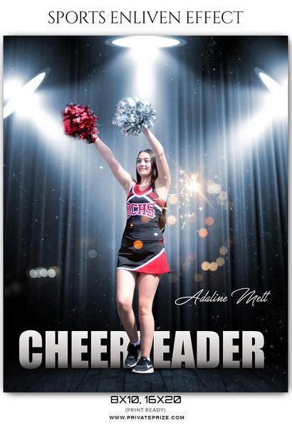 adaline mett cheerleader sports enliven effect photoshop