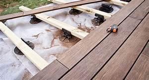 prix d39une terrasse sur lambourdes With pose de terrasse bois