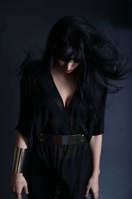 photo woman girl person figure dark  image