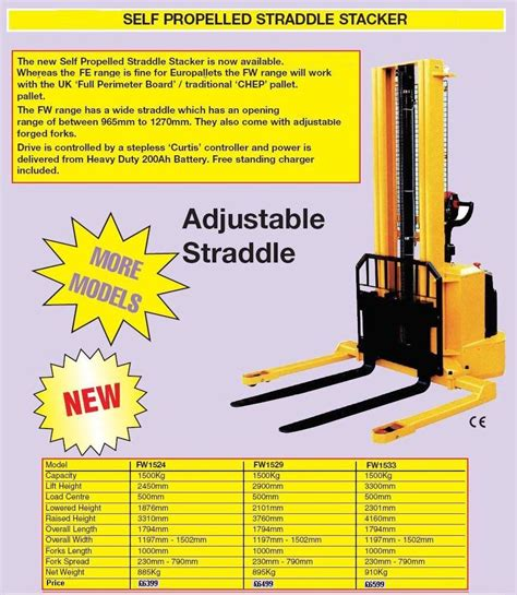 stair climbing truck for sale fully powered wide straddle stacker liftruck