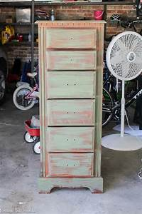 Denim, Faux, Finish, Furniture, Painting, Technique, A, Lingerie, Chest, Of, Drawers, Makeover