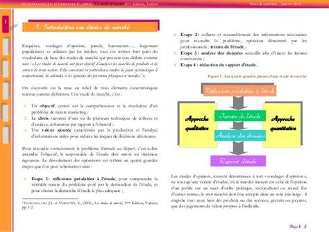 etude de marché cuisine les études de marché synthèse de l ouvrage les études de marché