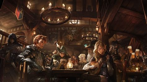 pointed ears fantasy art tavern candles wallpapers hd