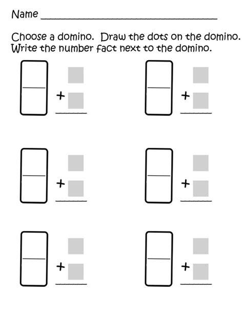 Domino Addition Worksheet  Fun Easy Printable Math Worksheets Worksheetsaddition With Pictures