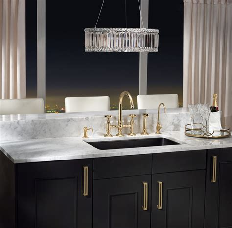 Rohl Bridge Faucet With Sidespray by Glam It Up Gold Kitchens Abode