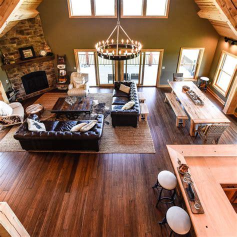 Open concept living space | Lofty Mountain Homes