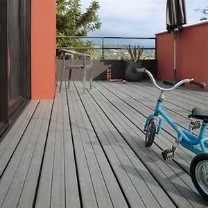 Poser Une Terrasse En Composite : pose d 39 une terrasse en bois ou composite de 15 m leroy merlin ~ Melissatoandfro.com Idées de Décoration