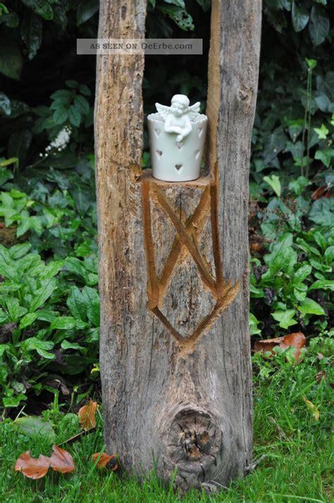 Gartendeko Holzbalken by Windlicht Kerzenhalter Holzbalken Antik Gartendeko