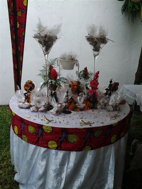 decoration mariage coutumier en plein air
