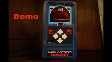mattel electronics hockey  demonstration youtube