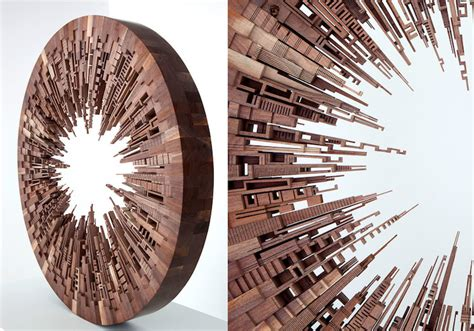 carved wood art inspired   energy  cities