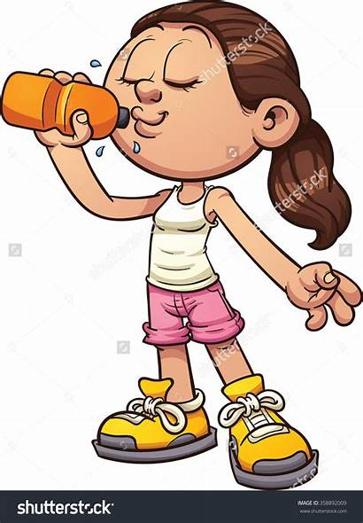 Clipart Drinking Water Drink Juice Kid Alcohol