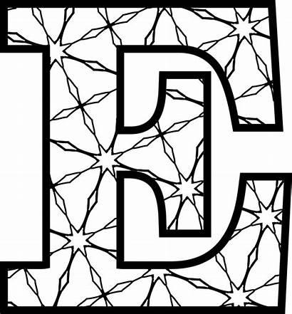 Letters Printable Alphabet Pattern Coloring Pullen Kate