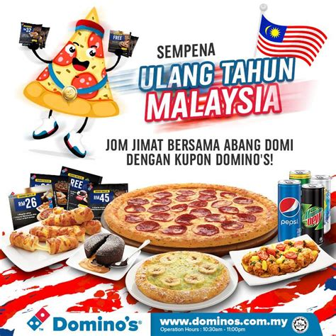 12024 Malaysia Coupon Website by Domino S Malaysia Merdeka Day Domino S Coupon Promotion