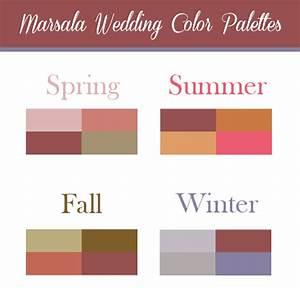 Marsala Wedding Color Palette Inspiration