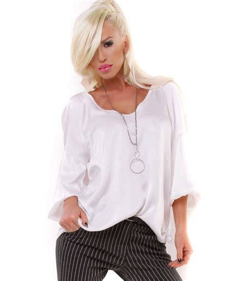 Blouse Glossy bluse h trend glossy creme blusen