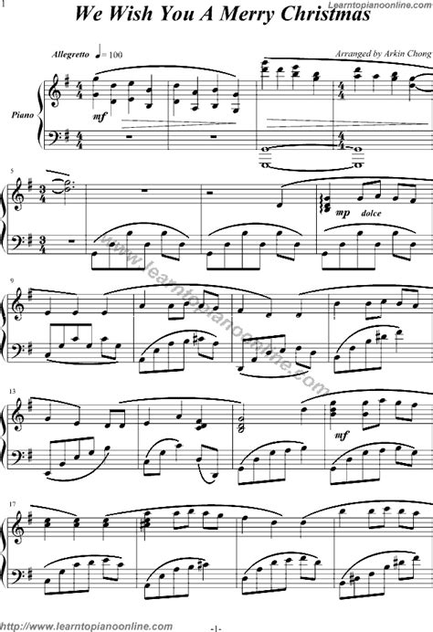 Download free violin sheet music for christmas music. We Wish You A Merry Christmas Free Piano Sheet Music | Learn How To Play Piano Online