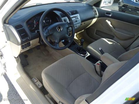 beige interior  honda civic hybrid sedan photo