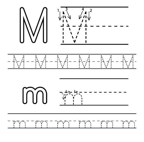free printable letter m worksheets for kindergarten