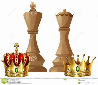 Chess Queen King Pieces Crown Piece Clip