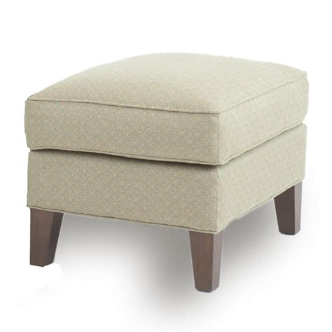 ottoman  tapered wood legs  smith brothers wolf