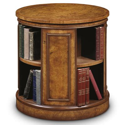 End Table Bookcase by Revolving End Table Bookcase Burr Walnut Amc235 Robson