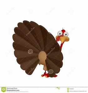 Toon Turkey Looking Back Illustration Stock - Image: 46606829