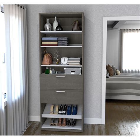 Closet Storage Units by 29 5 Quot Shoe Closet Storage Unit With Drawers In Bark Gray