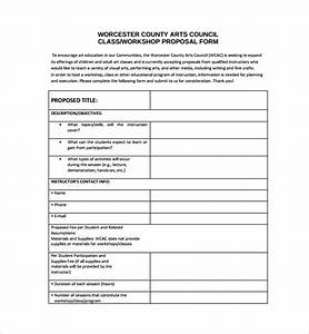 sample workshop registration form template - 10 art proposal templates pdf word pages sample