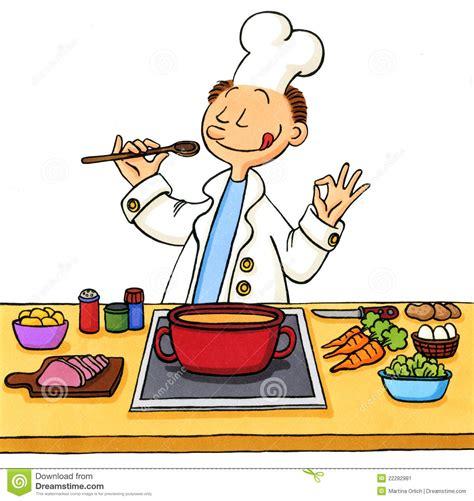 dessins cuisine dessin animé d 39 un cuisinier dans la cuisine image stock