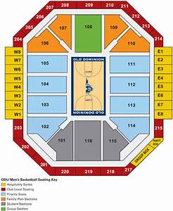 Odu Basketball Seating Chart Seating Ted Constant Convocation Center Norfolk Virginia