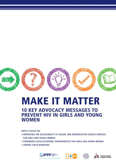 matter  key advocacy messages  prevent hiv  girls  young women ippf
