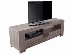 Meuble De Télé Conforama : meuble tv 182 cm atlanta coloris ch ne fusain vente de meuble tv conforama ~ Teatrodelosmanantiales.com Idées de Décoration