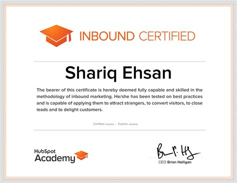 marketing certificate digital marketing consultant syed shariq ehsan