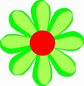 Flower Cartoon Green Clip Art at Clker.com - vector clip ...