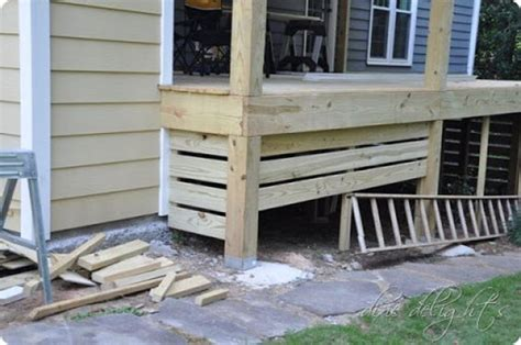Horizontal Deck Skirting Ideas by Deck Skirting Porches And Decks On