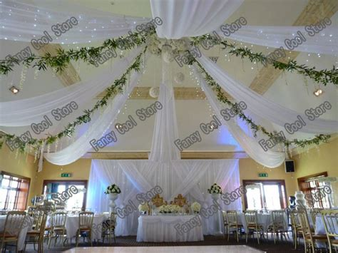 tenture plafond chambre 2015 white wedding ceiling draper canopy drapery for