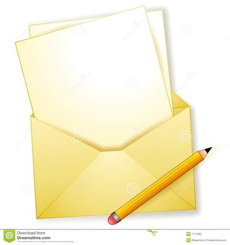 blank letter blank letter envelope pencil stock illustration illustration of notes letter 7171832
