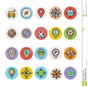 Map And Navigation Vector Icons 3 Stock Illustration ...