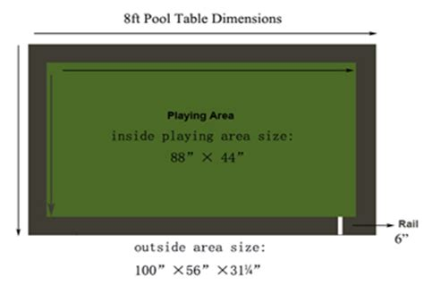 8 pool table dimensions room size chart imagine that pool tables