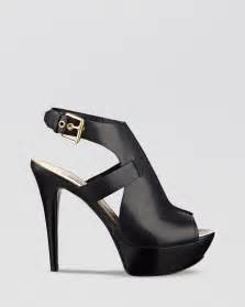 guess open toe sandals ofria high heel in black lyst