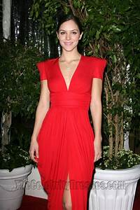 Katharine McPhee Red V Neck Evening Dress QVC Red Carpet Style Party TheCelebrityDresses