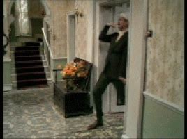 fawlty towers funny walk gif find share  giphy