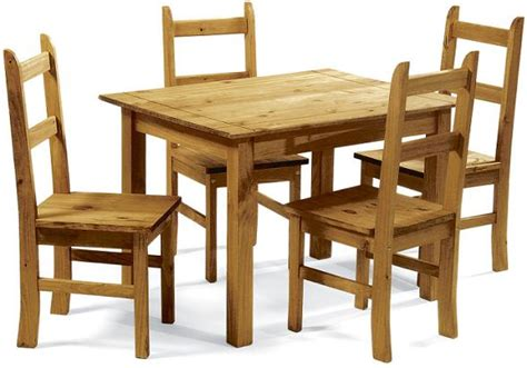 coba pine 4 seater dining table 4 chairs coba 163 125