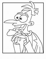 Ferb Phineas Coloring Pages Doofenshmirtz Dr Disney Printable Print Channel Cartoon Colouring Sheets Cute Fastseoguru Halloween Cartoonjr Jr Characters Kid sketch template
