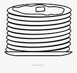 Pancakes Coloring Clipartkey sketch template