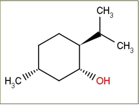 1 the structure of menthol or 1r 2s 5r 2 isopropyl 5