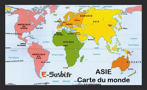 Grande Carte Du Monde En Français by Asie Carte Du Monde Arts Et Voyages