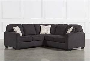 Alenya charcoal 2 piece sectional w laf loveseat living for Alenya 2 piece sofa sectional in charcoal